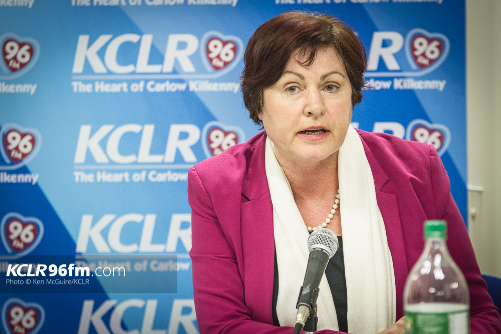 Labour's Ann Phelan pictured during the KCLR Election debate in February 2016. Photo: Ken McGuire/KCLR