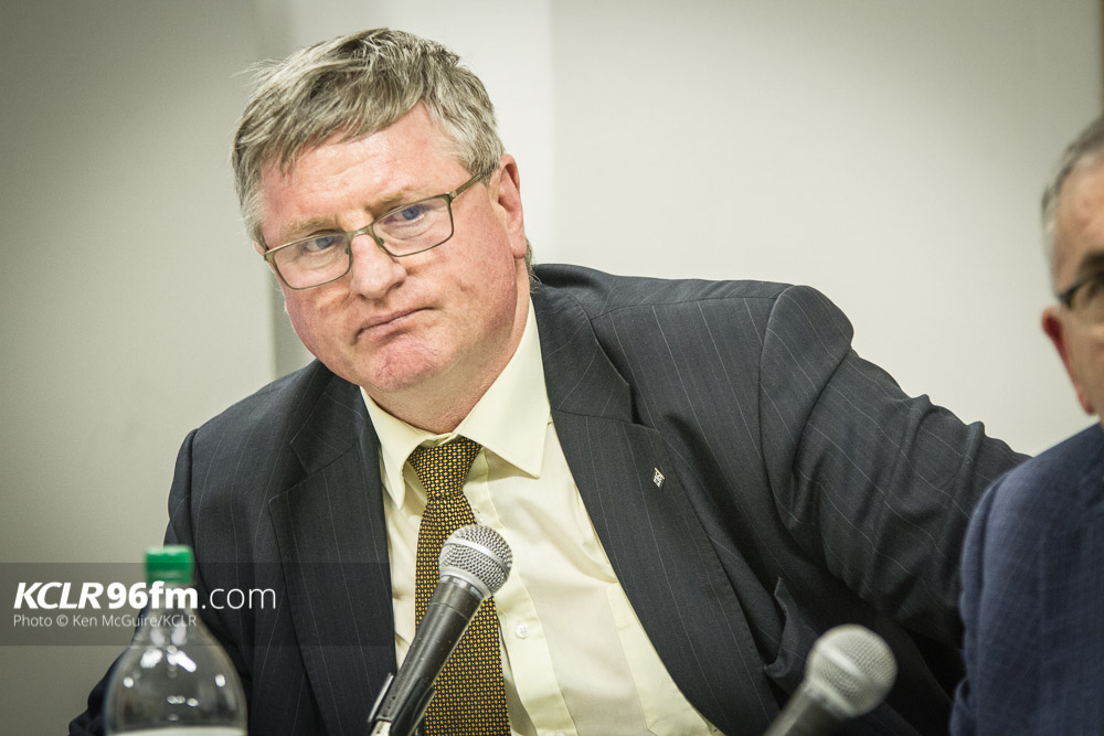 Fianna Fail's Bobby Aylward pictured during the KCLR Election debate in February 2016. Photo: Ken McGuire/KCLR