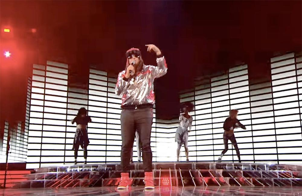 Honey G performing on X Factor. Screenshot/ITV