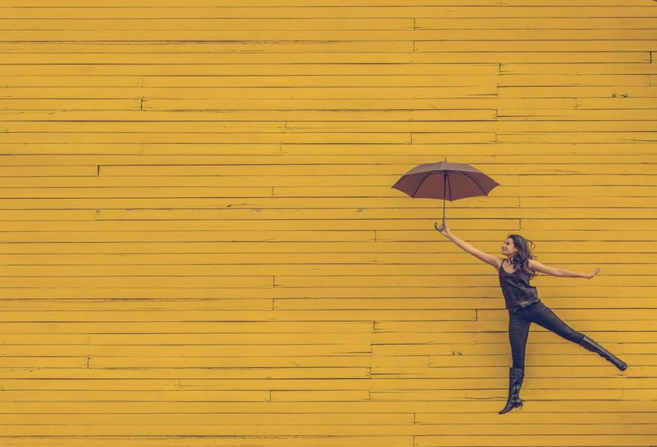 Woman with umbrella. File photo.