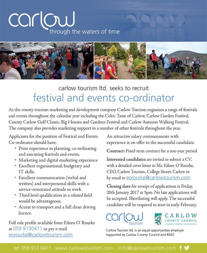 Carlow Tourism Job Details