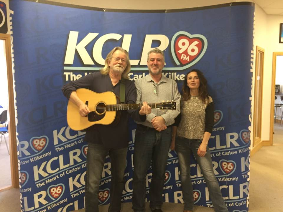 Declan Sinnot and Vickie Keating with Martin Bridgeman at a Studio 2 Session for Folk/Roots on KCLR
