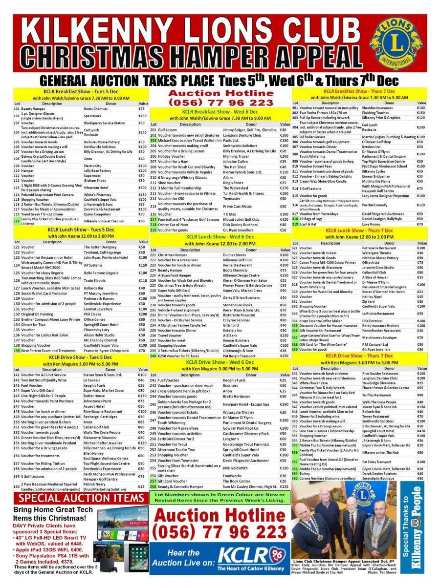2017 General Auction List