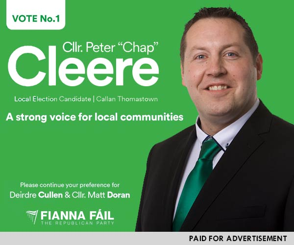 Peter Chap Cleere, Election Candidate Callan Thomastown