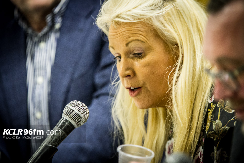 Fianna Fáil's Jennifer Murnane O'Connor pictured during the 2016 Election Debate at KCLR in February 2016. Photo: Ken McGuire/KCLR