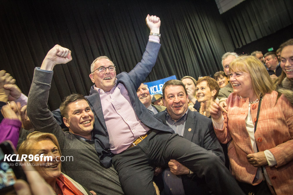 Fianna Fail's John McGuinness was first past the post in the Carlow Kilkenny constituency. Photo: Ken McGuire/KCLR