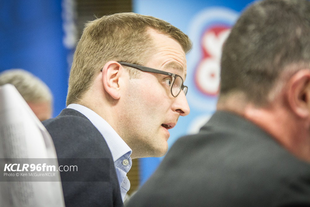 Fine Gael's John Paul Phelan pictured during the KCLR Election debate in February 2016. Photo: Ken McGuire/KCLR