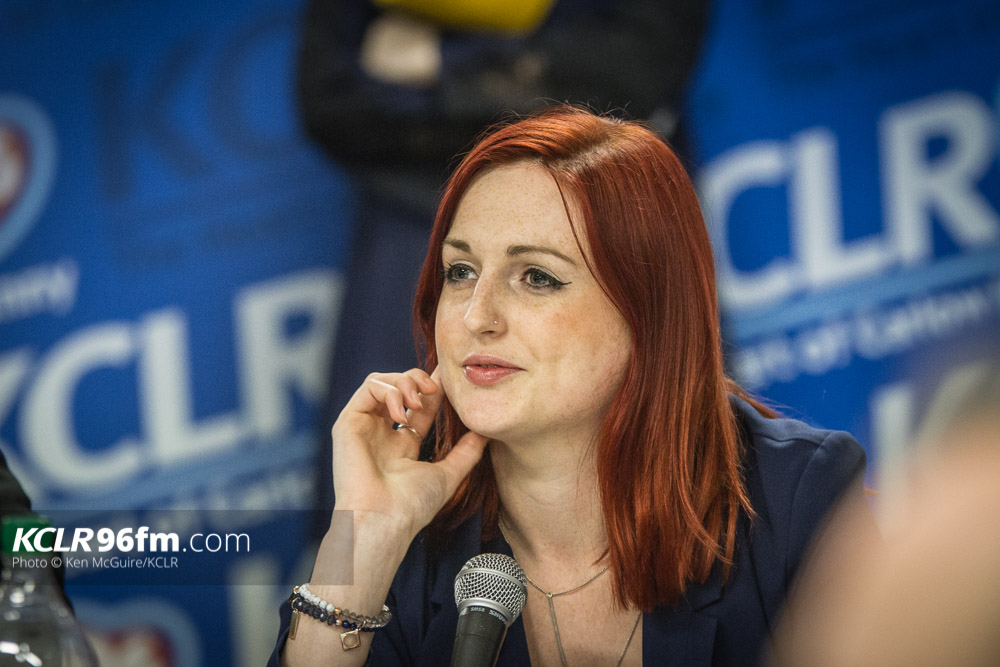 AAA's Adrienne Wallace pictured during the KCLR Election debate in February 2016. Photo: Ken McGuire/KCLR