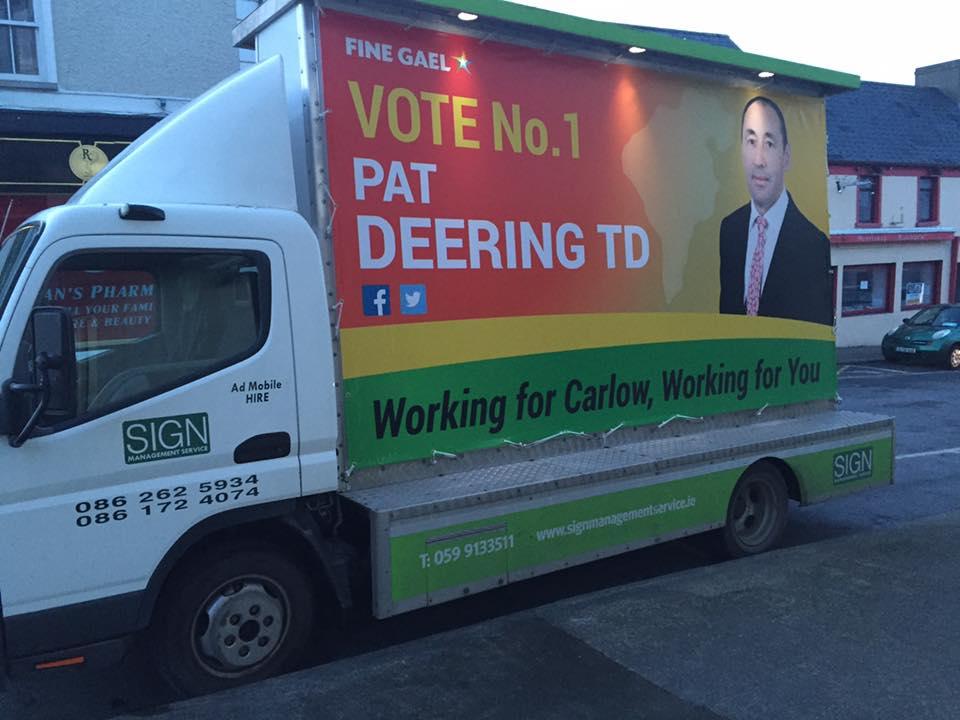 Pat Deering campaign billboard (pic Facebook)
