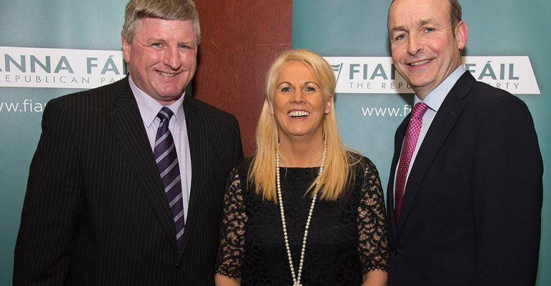 Jennifer Murnane O'Connor (centre) pictured with Bobby Aylward TD and Micheal Martin TD