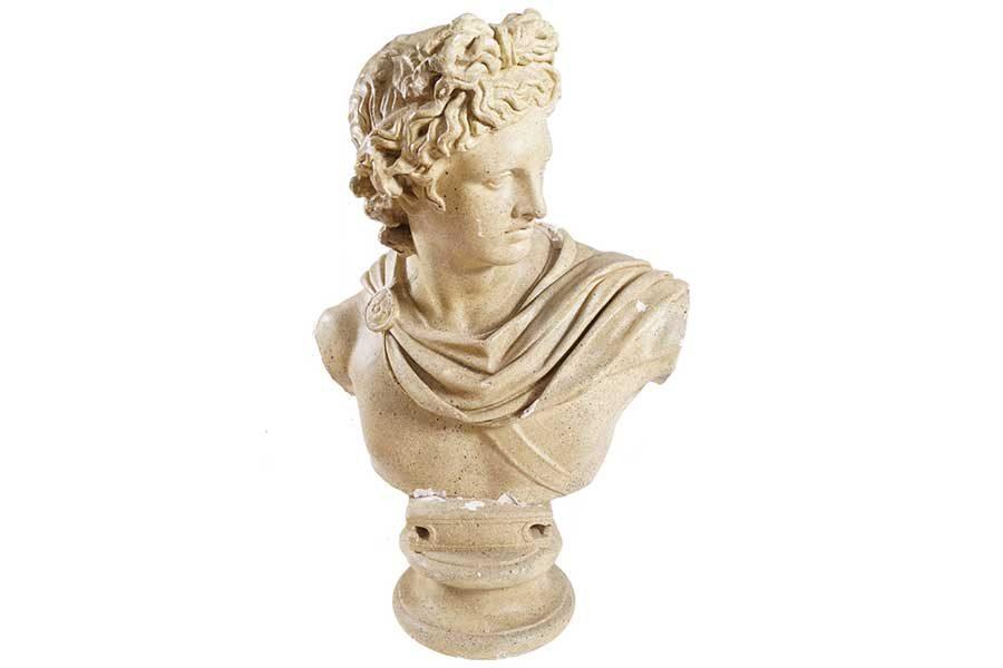 Plaster bust of Apollo
