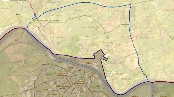 The area of interest for the boundary review.