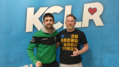 Team Ryano Kilkenny coach Mick Brennan and KCLR's Ken McGuire.