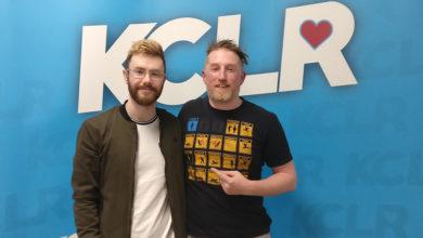 Robert Grace and KCLR's Ken McGuire