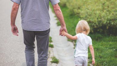Grandparent and grandchild. File photo.