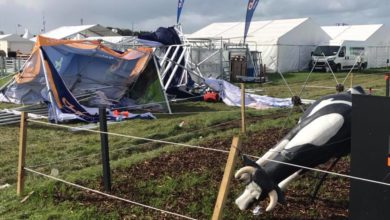 Damage at the National Ploughing Championships site in 2018. Photo: Eddie Hughes/KCLR