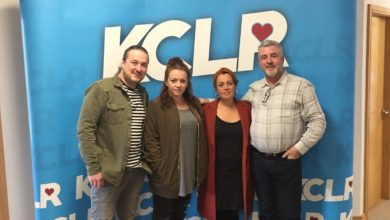 The Whileaways at KCLR with Martin Bridgeman for a Studio 2 Session for Ceol Anocht
