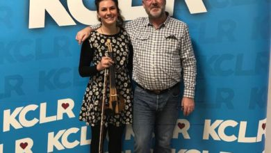 "Martin Bridgeman in conversation with Cork based musician Clare Sands in a Studio 2 Session for the ""Ceol Anocht"" programme on KCLR"