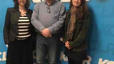 Nuala Roche & Kairen Caine with Martin Bridgeman for a Studio 2 Session at KCLR for Ceol Anocht