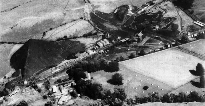 Aerial view of the Castlecomer mines