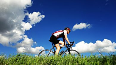 Cycling outdoors