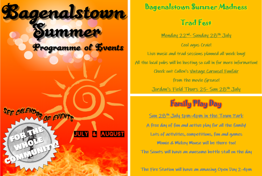 Bagenalstown Summer Programme of Events | KCLR 96FM