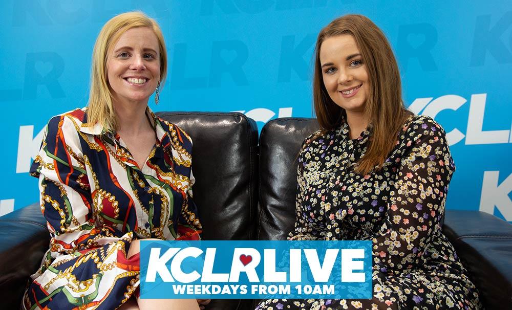 Eimear Ní Bhraonáin, presenter, with Lynda Mooney, producer, of KCLR Live