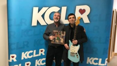 Gav Cowley of Glimmermen with Martin Bridgeman for a Studio 2 Session for Ceol Anocht on KCLR