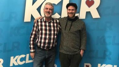 Paddy Mulcahy with Martin Bridgeman for a Studio 2 Session for Ceol Anocht on KCLR