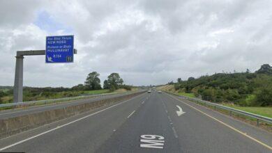 Photo of M9 lane in South Kilkenny blocked following crash