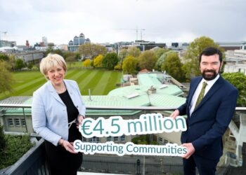 Caption: Ministers Humphreys & O'Brien launching a €4.5 million Fund to improve community facilities and sports clubs.